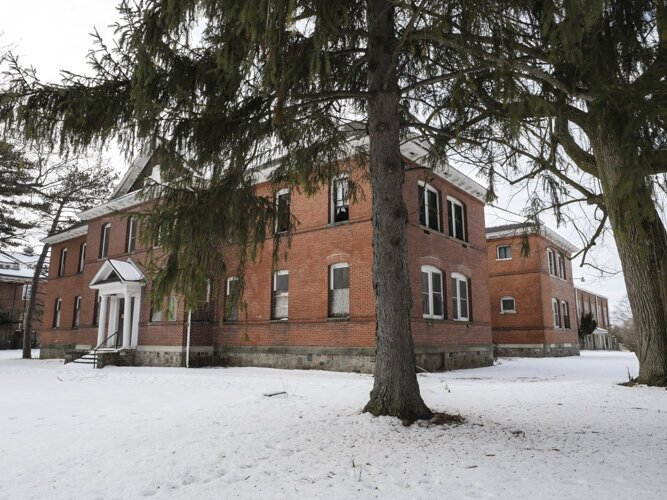 According to official records, the Mount Pleasant Indian Industrial Boarding School had an enrollment of about 300 students per year, ages K-8, during its operation from 1893-1934.