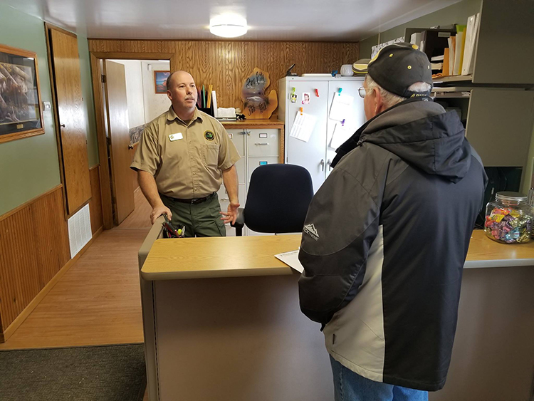 Rich Fenner, the newly-hired Bay City State Park Manager