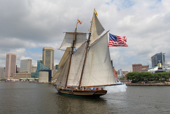 The Pride of Baltimore II is a topsail schooner that has appeared in every Bay City Tall Ships festival since 2001. It returns again for the July 18-21 Tall Ships Celebration.
