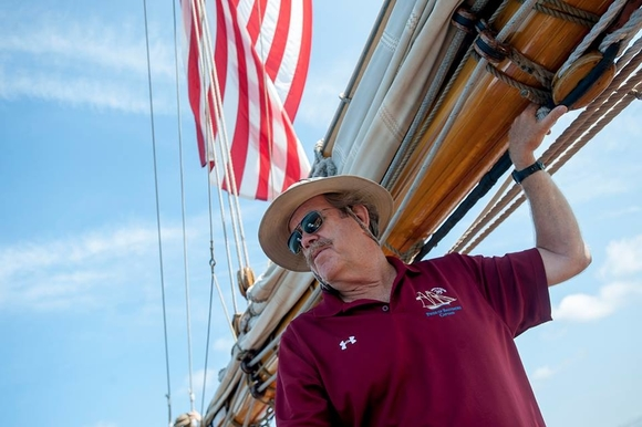 ​​​​​​​Jan Miles, captain of the Pride of Baltimore II, says he and his crew look forward to re-connecting with festival organizers, volunteers, and old friends in Bay City.