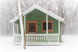 Pinconning Park cabin exterior