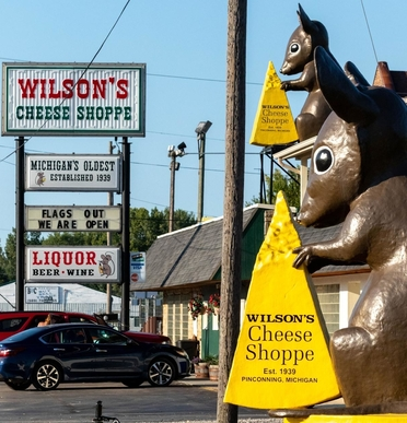 Wilson's Cheese Shoppe, which celebrates its 80th birthday this year, is the original cheese shop in Pinconning.