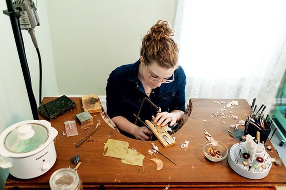 McIlvenna interviews her subjects first to learn their story. Then, she creates jewelry that reflects each woman's strength.