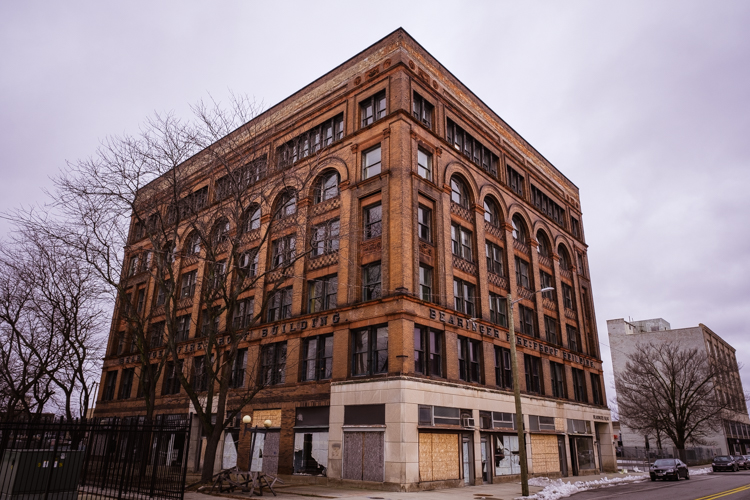 The Bearinger Fireproof Building in downtown Saginaw