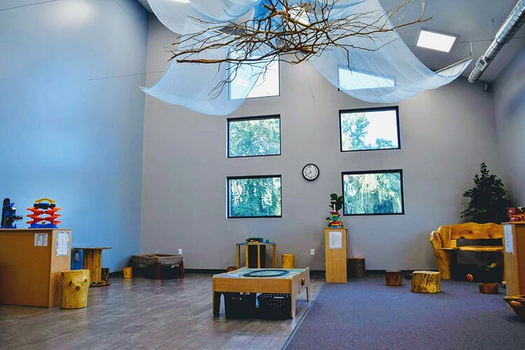 Every therapy room has a window to allow in natural light. Calm, soothing colors fill the facility.