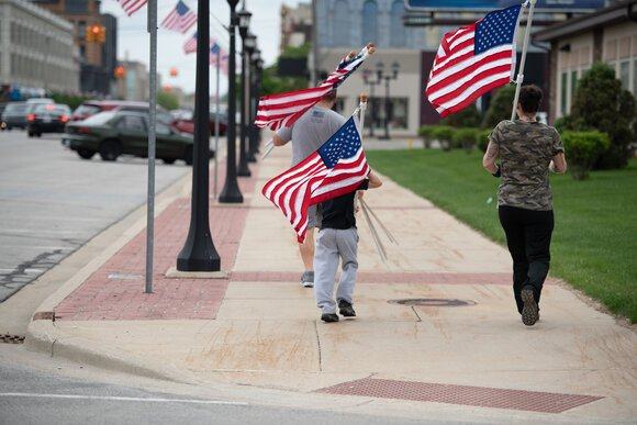 Businesses and individuals are invited to sponsor the flags every summer.