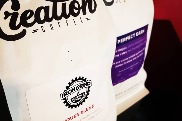 Iron Grind partners with a local coffee roaster, Creation Coffee