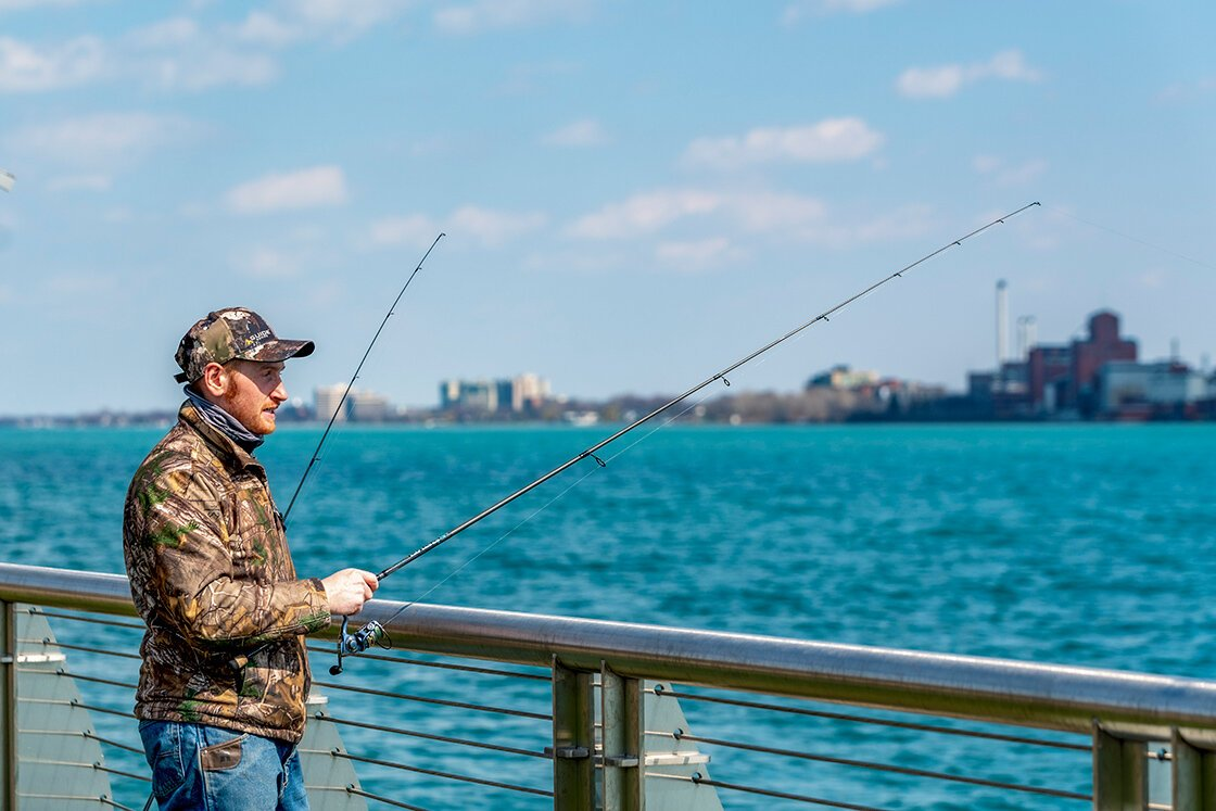"""I have an office downtown,"" says Ken Barry.  ""I like that you can fish so nearby. It's one of the best fisheries in the world."" Photo by Doug Coombe."