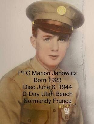 On July 19 at City Market, a historian will tell the story of Bay City native Marion Janowicz, who died on Normandy's Utah Beach during D-Day.
