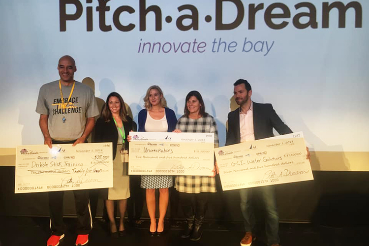 The winners of this year's Pitch a Dream competition
