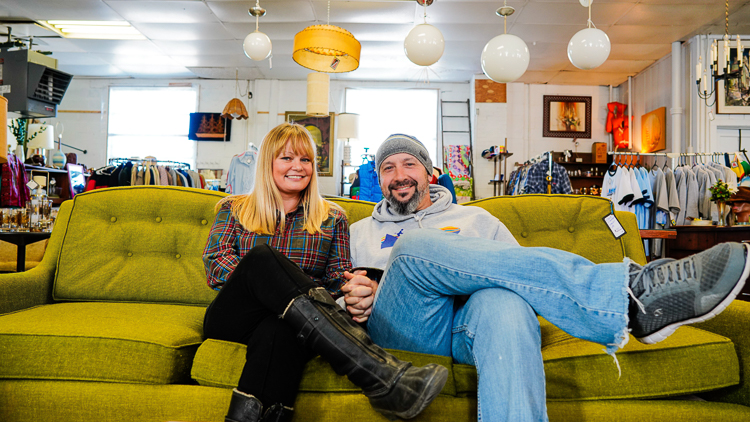 Retro Attics owners Dena Pawlicki and Mike Bermudez