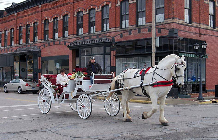 "A carriage ride during Bay City's ""Sundays in the City"""