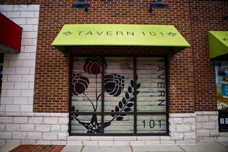 Tavern 101 offers patrons craft beers in a rustic-chic atmosphere.
