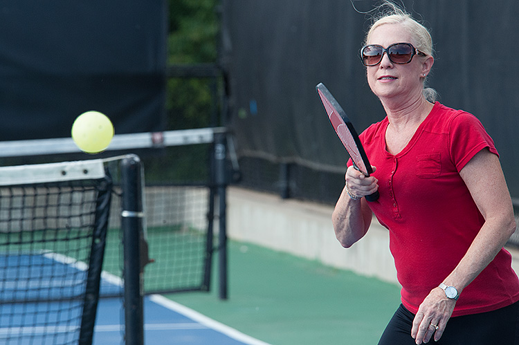 Pickleball action at the MAC - Photo Dave Trumpie