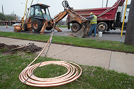 BWL crews replacing lead lines in Lansing - Photo Dave Trumpie