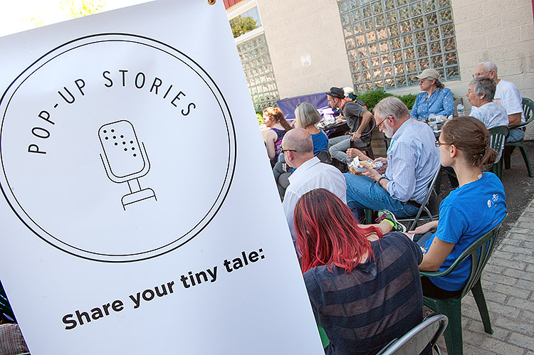 Storytellers speak at Allen Market Place - Photo Dave Trumpie