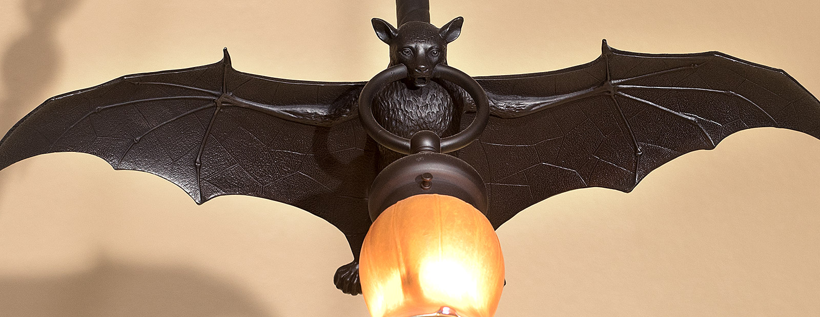 A haunted looking light fixture in the BWL Depot Building in REO Town-Photo Dave Trumpie <span class='image-credits'></span>