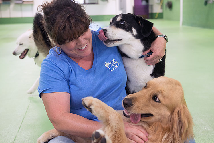 Janice Milligan at Doggy Daycare & Spa Lansing - Photo Dave Trumpie