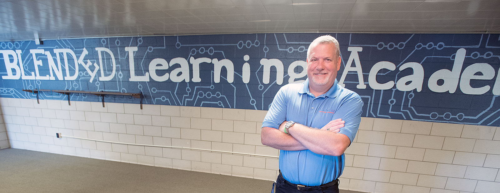 Tim Brannan, Founder and Superintendent of Blended Learning Academies  - Photo Dave Trumpie