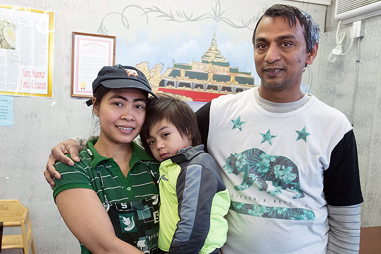 Moe Naing Israel and Mi Latt Thanda and son Jason - Photo Dave Trumpie