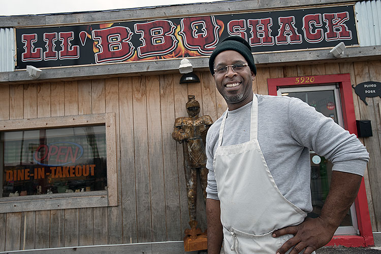 Juliano Jean-Jules at Lil BBQ Shack - Photo Dave Trumpie