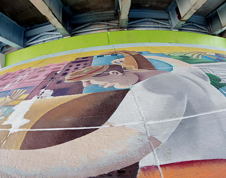 Mural project along Michigan Avenue - Photo Dave Trumpie