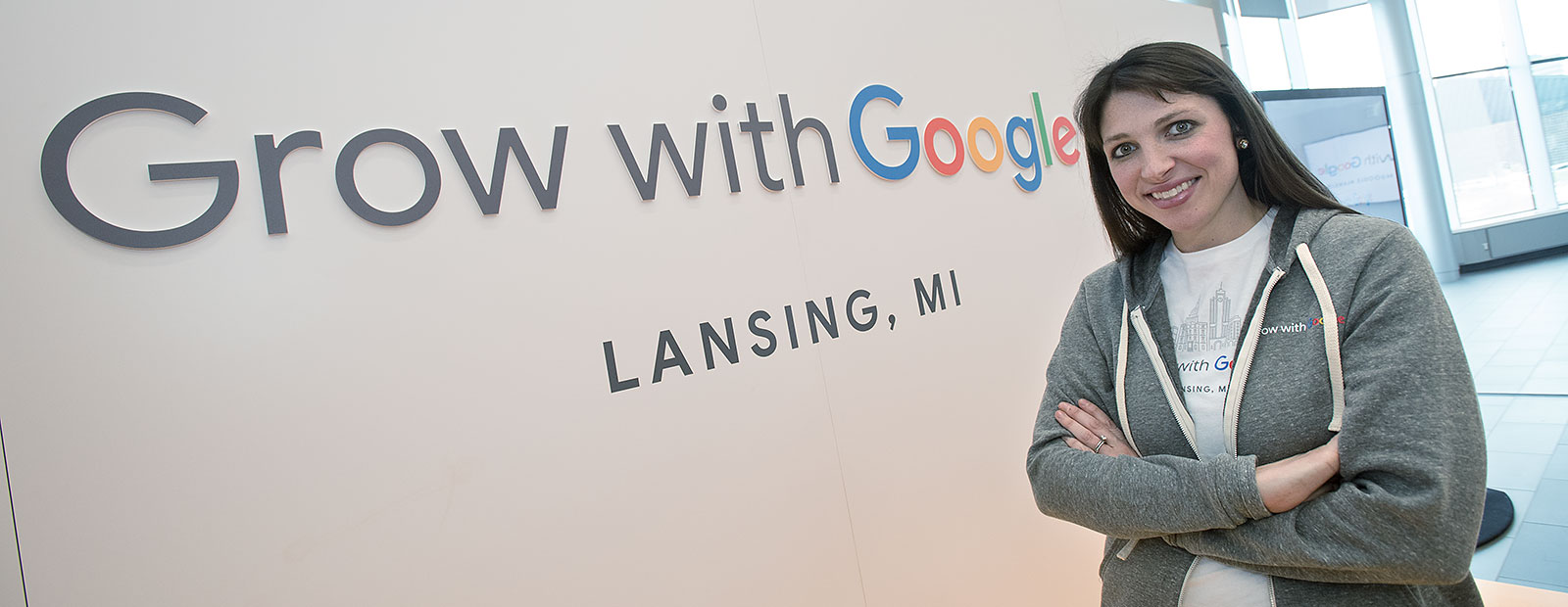 Emily Hanley of Google at the Grow with Google event in Lansing - Photo Dave Trumpie