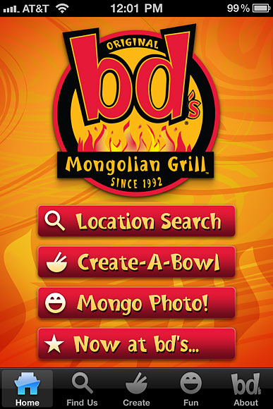 Traction's Mongolian Grill App
