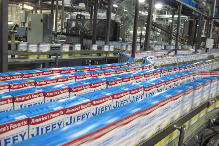 Inside the JIFFY plant