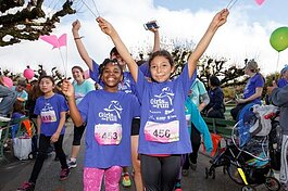 Girls on the Run youth show off their running skills.