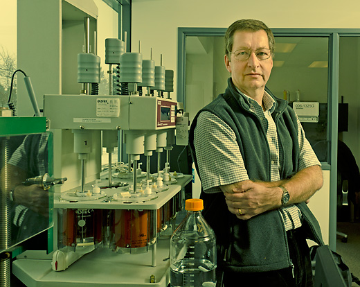 Dave Barnes at the Velesco Pharmaceutical Labs