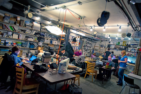 The All Hands Active Makerspace in downtown Ann Arbor