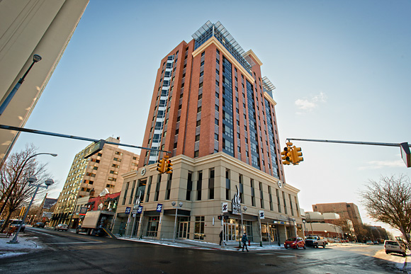 Zaragon West is one of the many recent higher end downtown developments