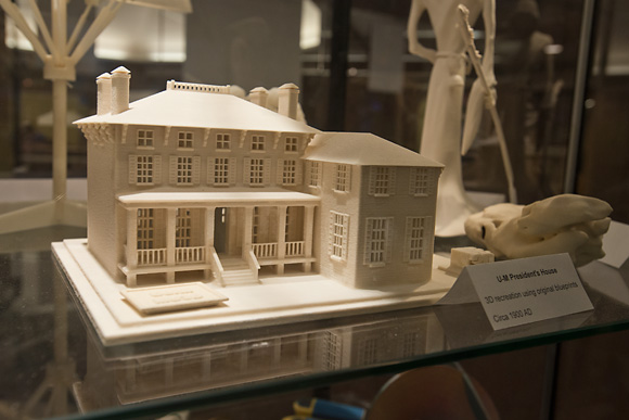 The U of M President's House printed out at the U of M 3D Lab