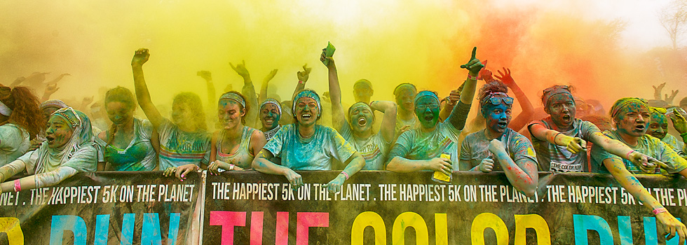 The Second Annual Color Run in Ypsilanti