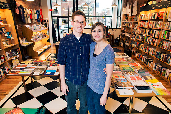 Mike and Hilary Gustafson at Literati Bookstore