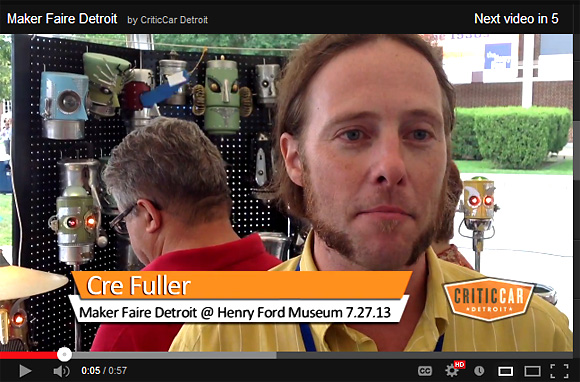 Cre Fuller at Maker Faire Detroit on CriticCar Detroit