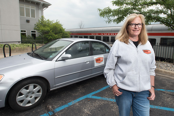 Jennifer Conlin of CriticCar Detroit at the Ann Arbor Artrain office