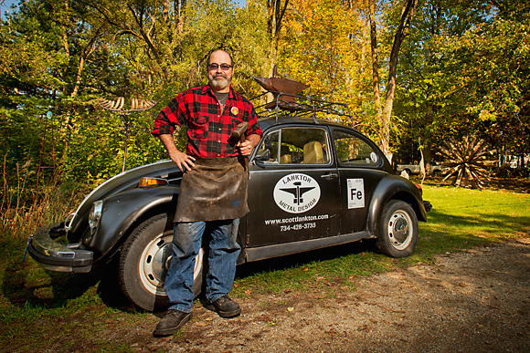 Scott Lankton with his VW Bug