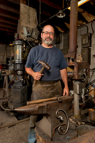 Scott Lankton at his blacksmith studio