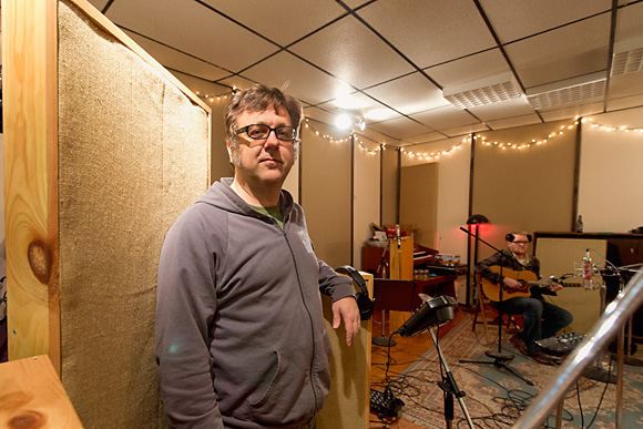 Jim Roll in the studio with Matt Jones at Backseat Productions
