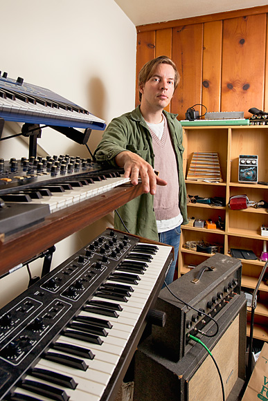Fred Thomas in his home studio