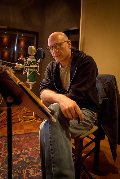 Rob Reinhart recording Acoustic Cafe at Big Sky Recording