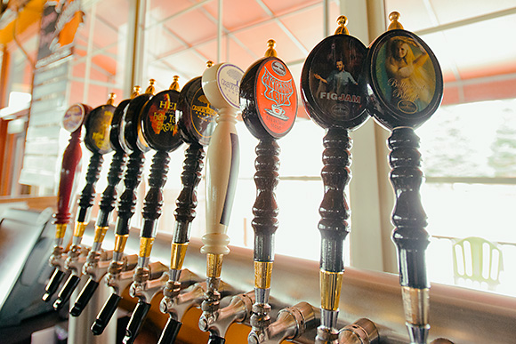The impressive tap selection at Corner Brewery, Ypsilanti