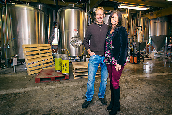 Matt and Rene Greff at the Corner Brewery in Ypsilanti
