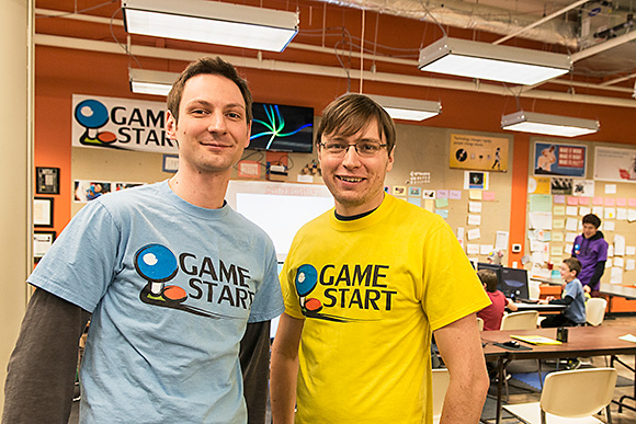 David Arditti and Nate Aschenbach at GameStart