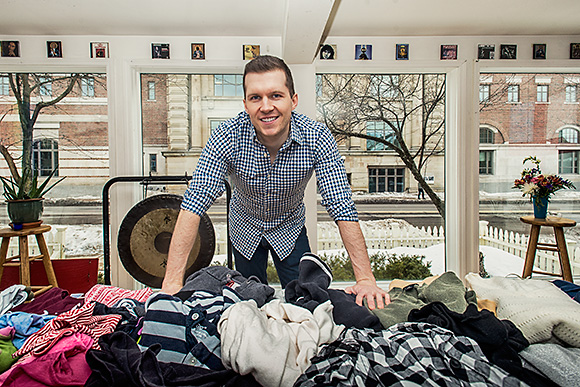 Ryan Gourley at the A2Share Clothing Swap at Canterbury House