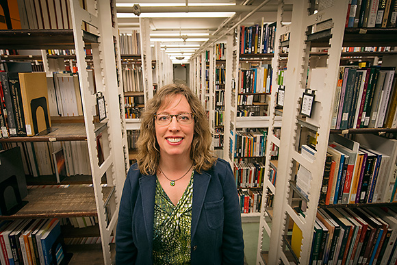 Julie Weatherbee at the U of M Harlan Hatcher Graduate Library