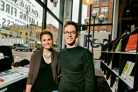 Hilary Lowe and Michael Gustafson at Literati Bookstore