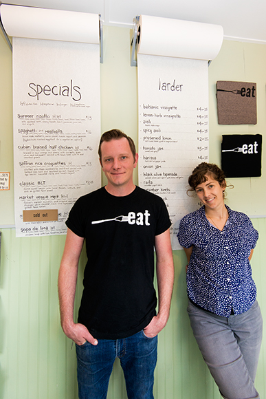 Blake Reetz and Helen Harding at eat